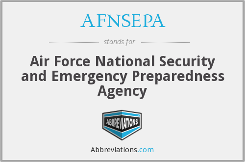 AFNSEPA - Air Force National Security and Emergency Preparedness Agency