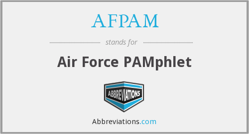 What does AFPAM stand for?