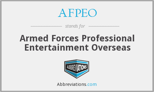 What does AFPEO stand for?