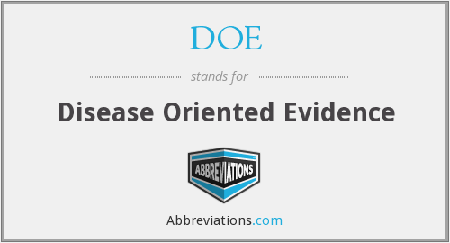 DOE - Disease Oriented Evidence