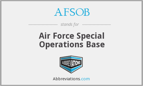 What does AFSOB stand for?