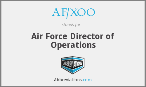 What does AF/XOO stand for?