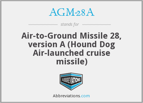 What does AGM-28A stand for?