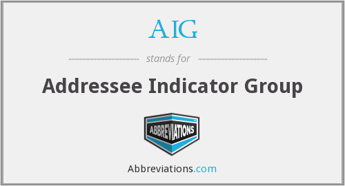AIG - Addressee Indicator Group