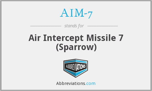 AIM-7 - Air Intercept Missile 7 (Sparrow)