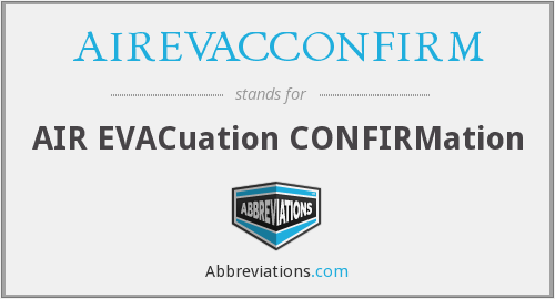 What does AIREVACCONFIRM stand for?