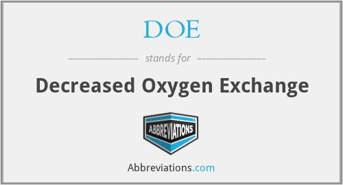 DOE - Decreased Oxygen Exchange