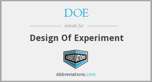 DOE - Design Of Experiment