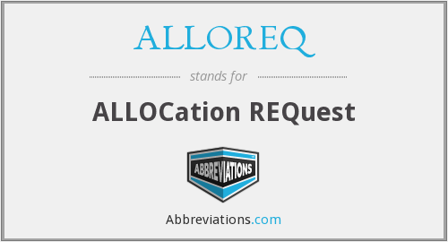 What does ALLOREQ stand for?