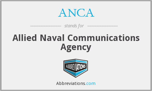 ANCA - Allied Naval Communications Agency