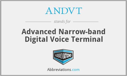 ANDVT - Advanced Narrow-band Digital Voice Terminal