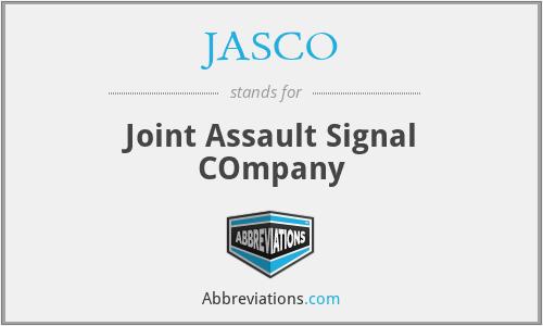 JASCO - Joint Assault Signal COmpany