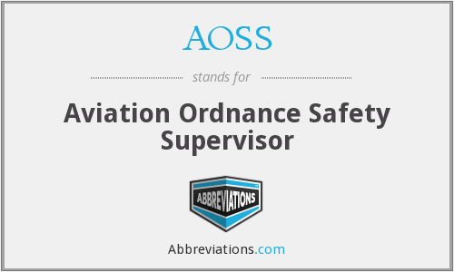 AOSS - Aviation Ordnance Safety Supervisor