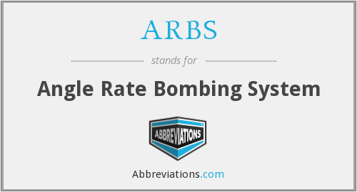 ARBS - Angle Rate Bombing System