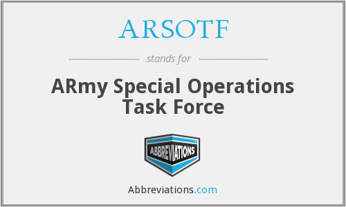 What does ARSOTF stand for?