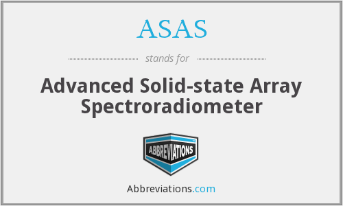 ASAS - Advanced Solid-state Array Spectroradiometer