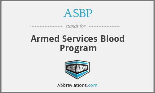 ASBP - Armed Services Blood Program