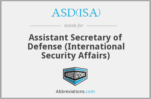 What does ASD(ISA) stand for?