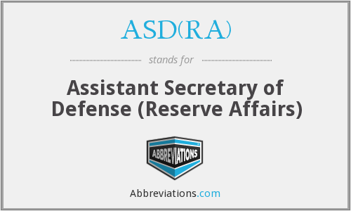 What does ASD(RA) stand for?