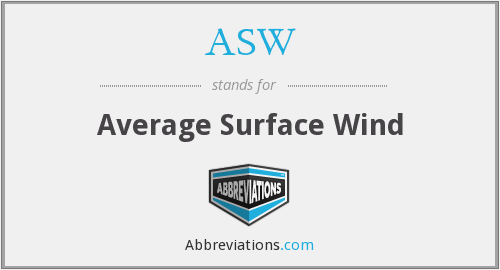 ASW - Average Surface Wind