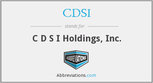 What does CDSI stand for?