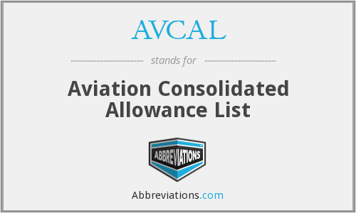 What does AVCAL stand for?
