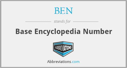 BEN - Base Encyclopedia Number