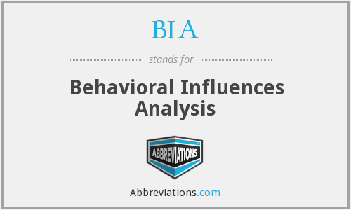 BIA - Behavioral Influences Analysis