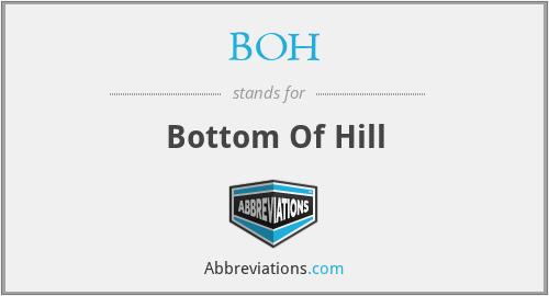 BOH - Bottom Of Hill