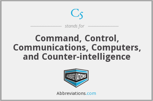 C5 - Command, Control, Communications, Computers, and Counter-intelligence