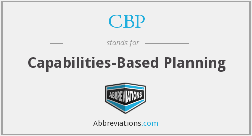 CBP - Capabilities-Based Planning