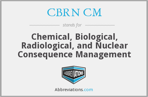 What does CBRN CM stand for?
