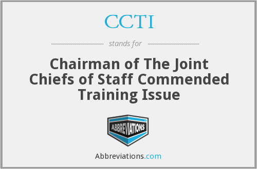 CCTI - Chairman of The Joint Chiefs of Staff Commended Training Issue