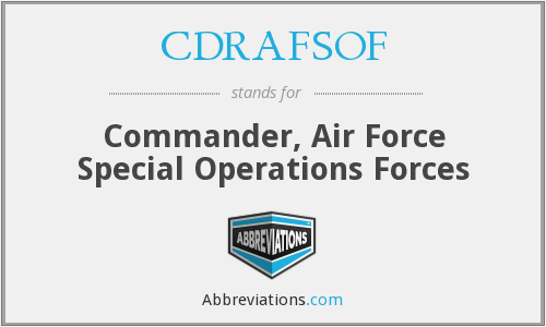 What does CDRAFSOF stand for?