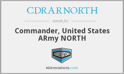 What does CDRARNORTH stand for?