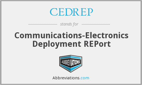 What does CEDREP stand for?