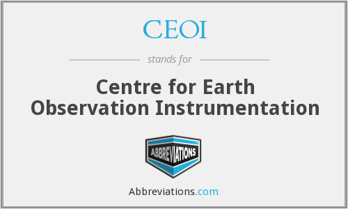 CEOI - Centre for Earth Observation Instrumentation