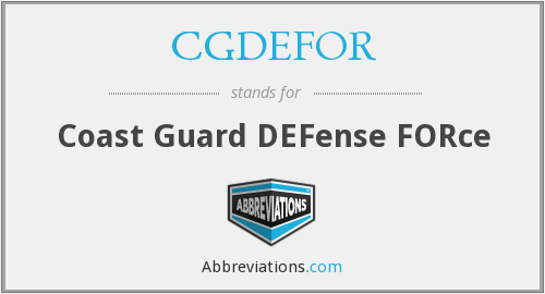 What does CGDEFOR stand for?