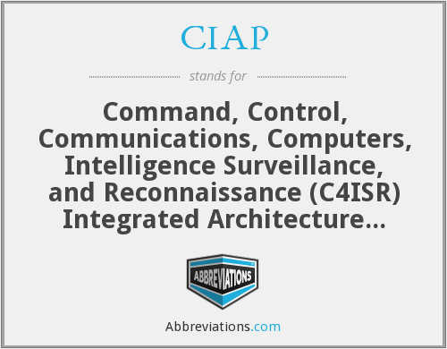 CIAP - Command, Control, Communications, Computers, Intelligence Surveillance, and Reconnaissance (C4ISR) Integrated Architecture Program
