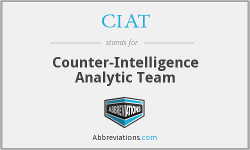 CIAT - Counter-Intelligence Analytic Team
