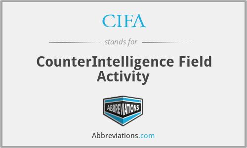 CIFA - CounterIntelligence Field Activity