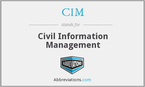 CIM - Civil Information Management
