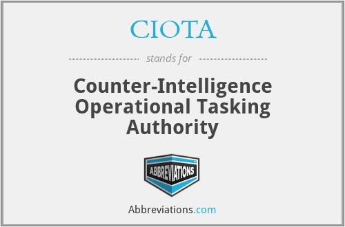 CIOTA - Counter-Intelligence Operational Tasking Authority