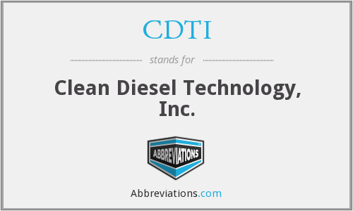 CDTI - Clean Diesel Technology, Inc.