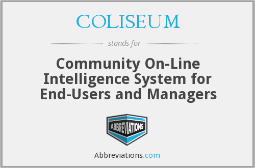 COLISEUM - Community On-Line Intelligence System for End-Users and Managers