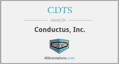 CDTS - Conductus, Inc.