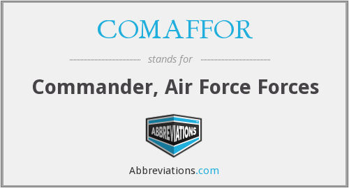 What does COMAFFOR stand for?