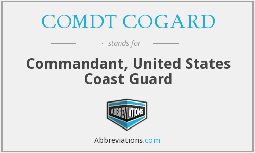 What does COMDT COGARD stand for?
