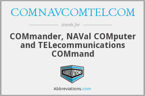 What does COMNAVCOMTELCOM stand for?
