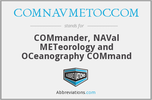 What does COMNAVMETOCCOM stand for?